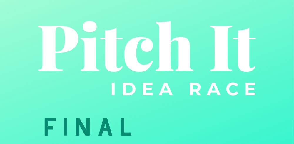 Pitch It idea race logo ja finaali teksti